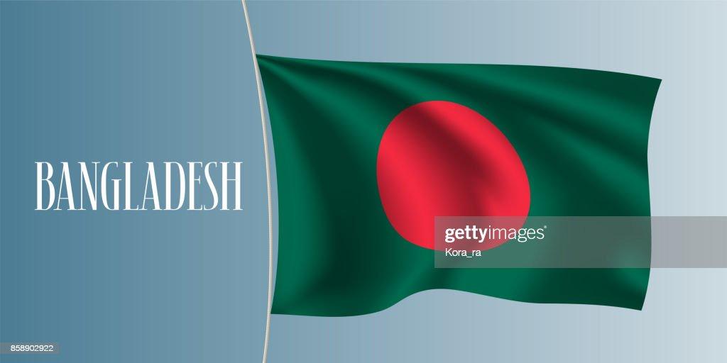 Bangladesh waving flag vector illustration