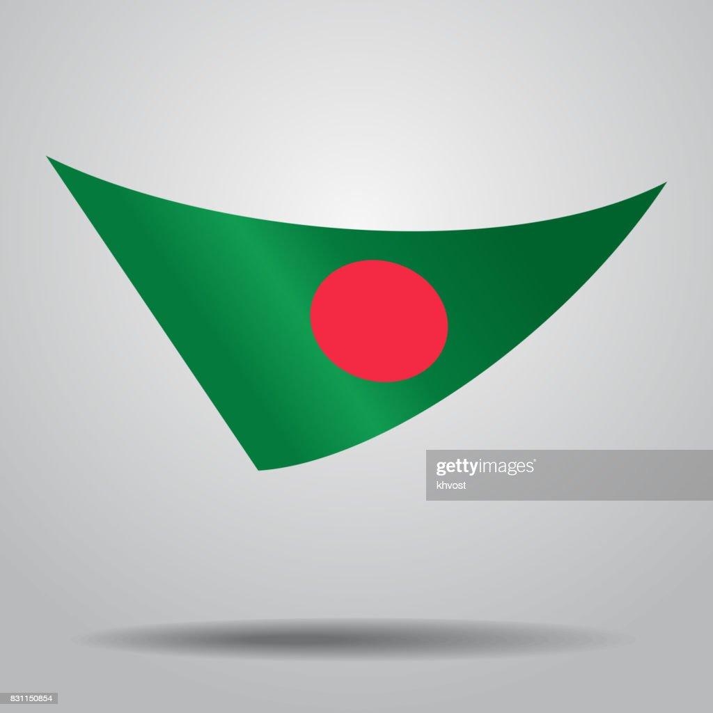 Bangladeshi flag background. Vector illustration.