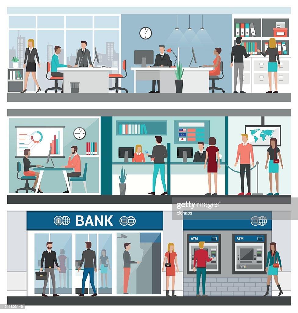 Bank and finance banner set