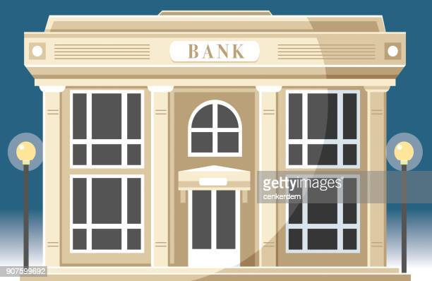 bank building - classical stock illustrations