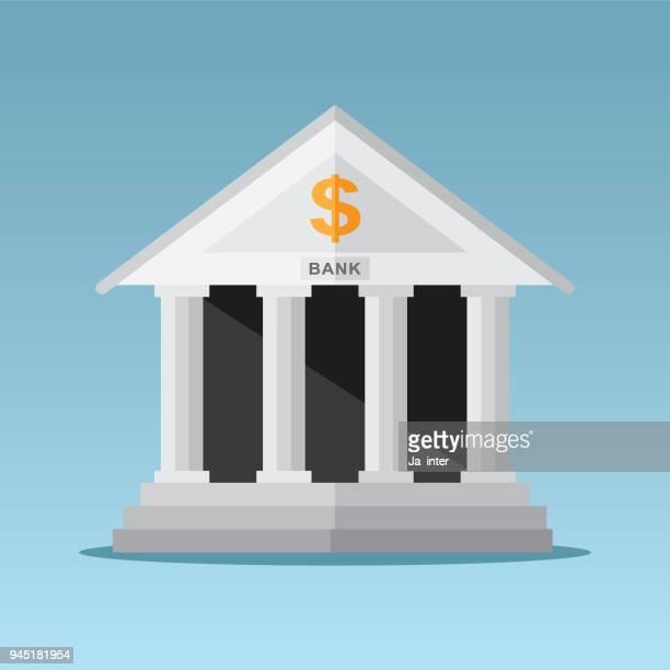 bank building - bank financial building stock illustrations, clip art, cartoons, & icons