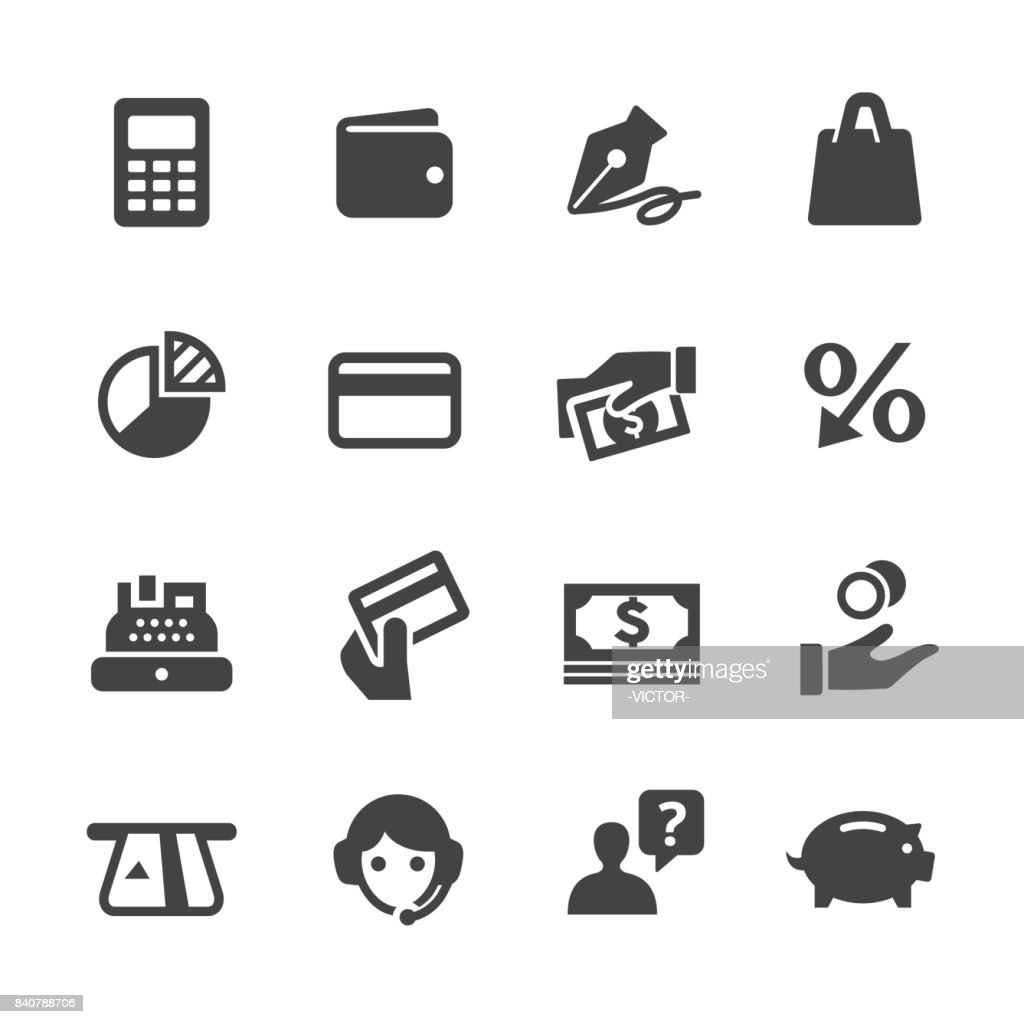 Bank Card Icons - Acme Series : stock illustration