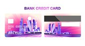bank card night city