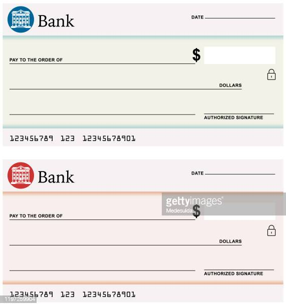 Clipart Blank Bank Check | Free Images at Clker.com - vector clip art  online, royalty free & public domain