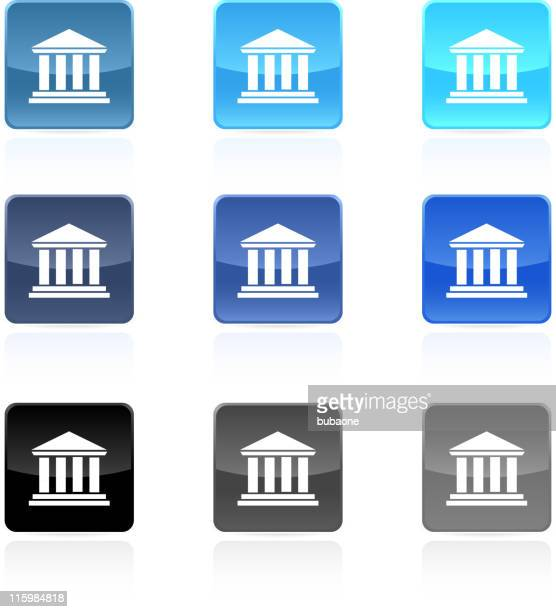 bank court house royalty free vector art - government building stock illustrations