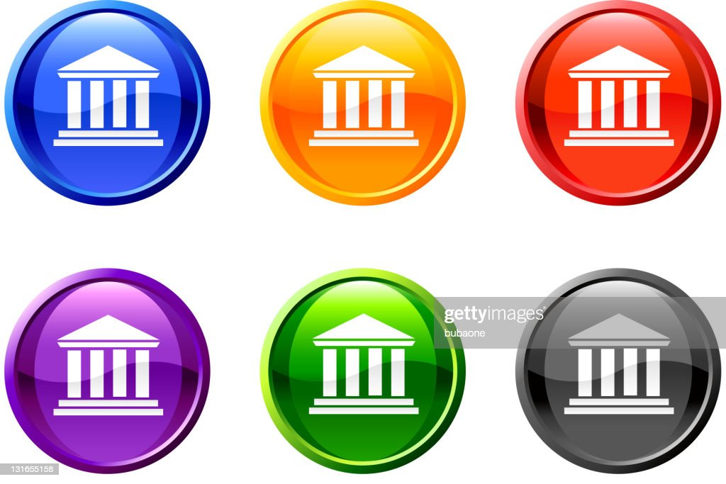 bank court house royalty free vector