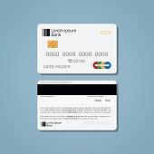 Bank credit debit card