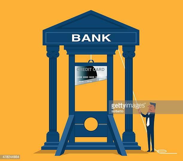 ilustraciones, imágenes clip art, dibujos animados e iconos de stock de banco guillotina - matadero