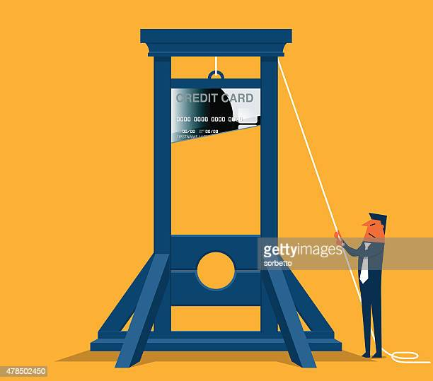 bank guillotine - cash flow stock illustrations, clip art, cartoons, & icons