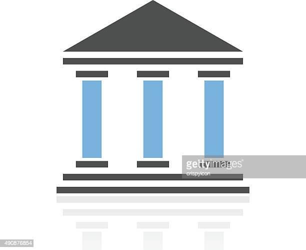 bank-symbol auf weißem hintergrund. royalseries - gewerbeimmobilie stock-grafiken, -clipart, -cartoons und -symbole