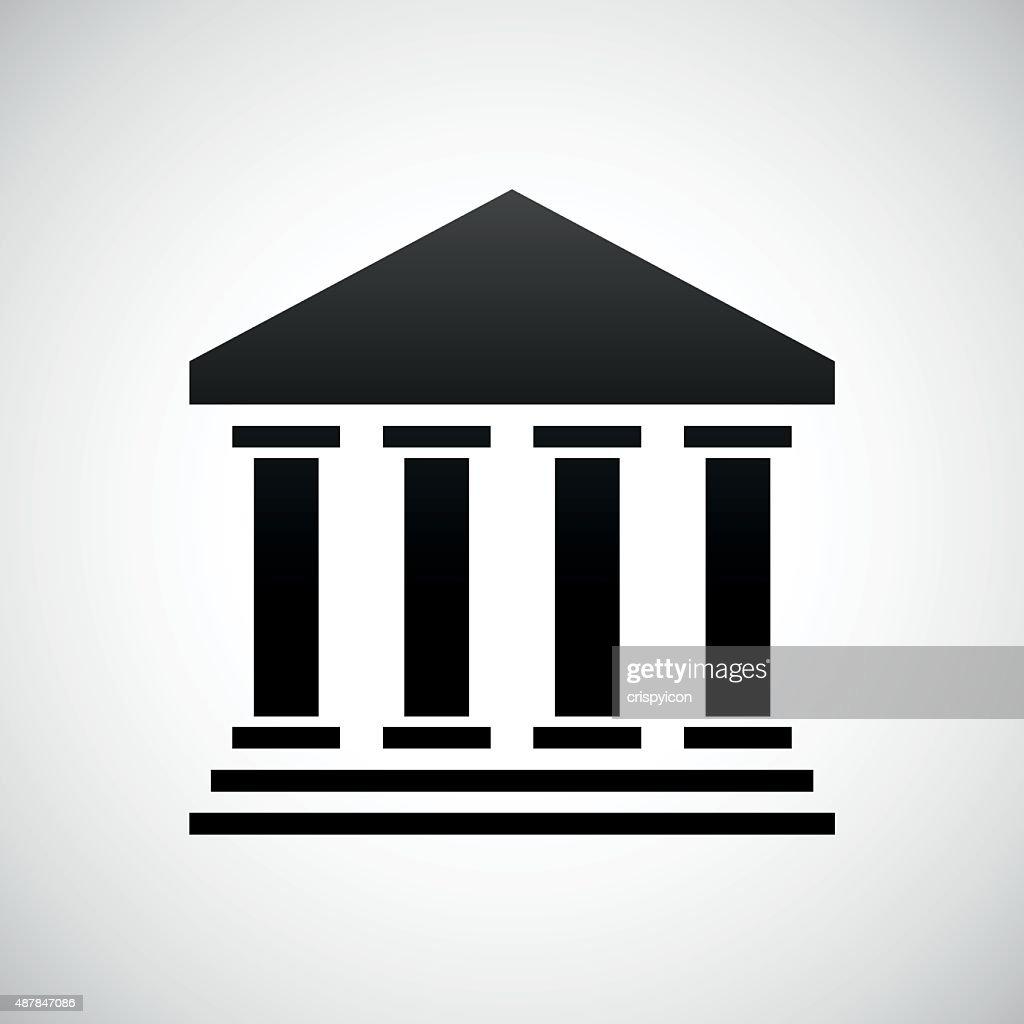 Bank icon on a white background. : stock illustration