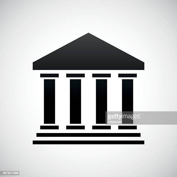bank icon on a white background. - courthouse stock illustrations, clip art, cartoons, & icons