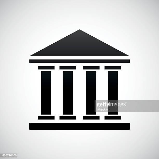 bank-symbol auf weißem hintergrund. - gewerbeimmobilie stock-grafiken, -clipart, -cartoons und -symbole