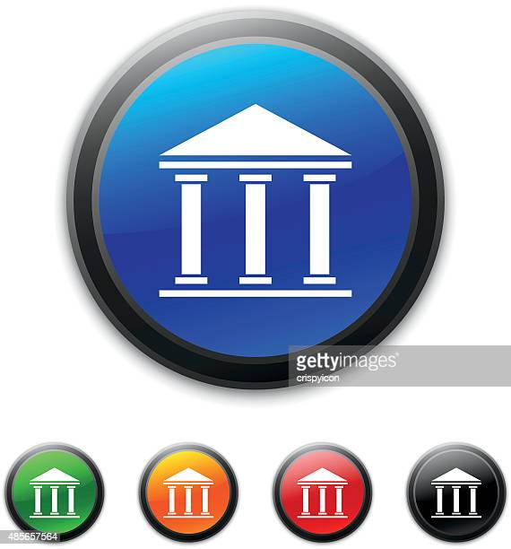 Bank icon on round buttons.