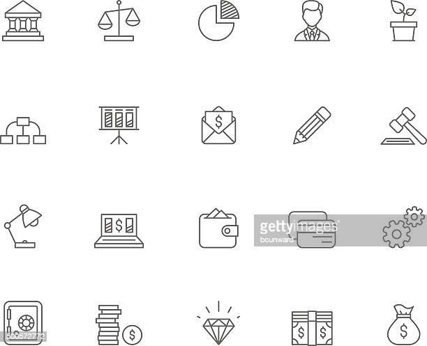 bank icons - criação digital stock illustrations