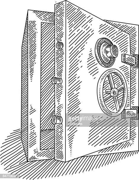 Bank Vault Drawing