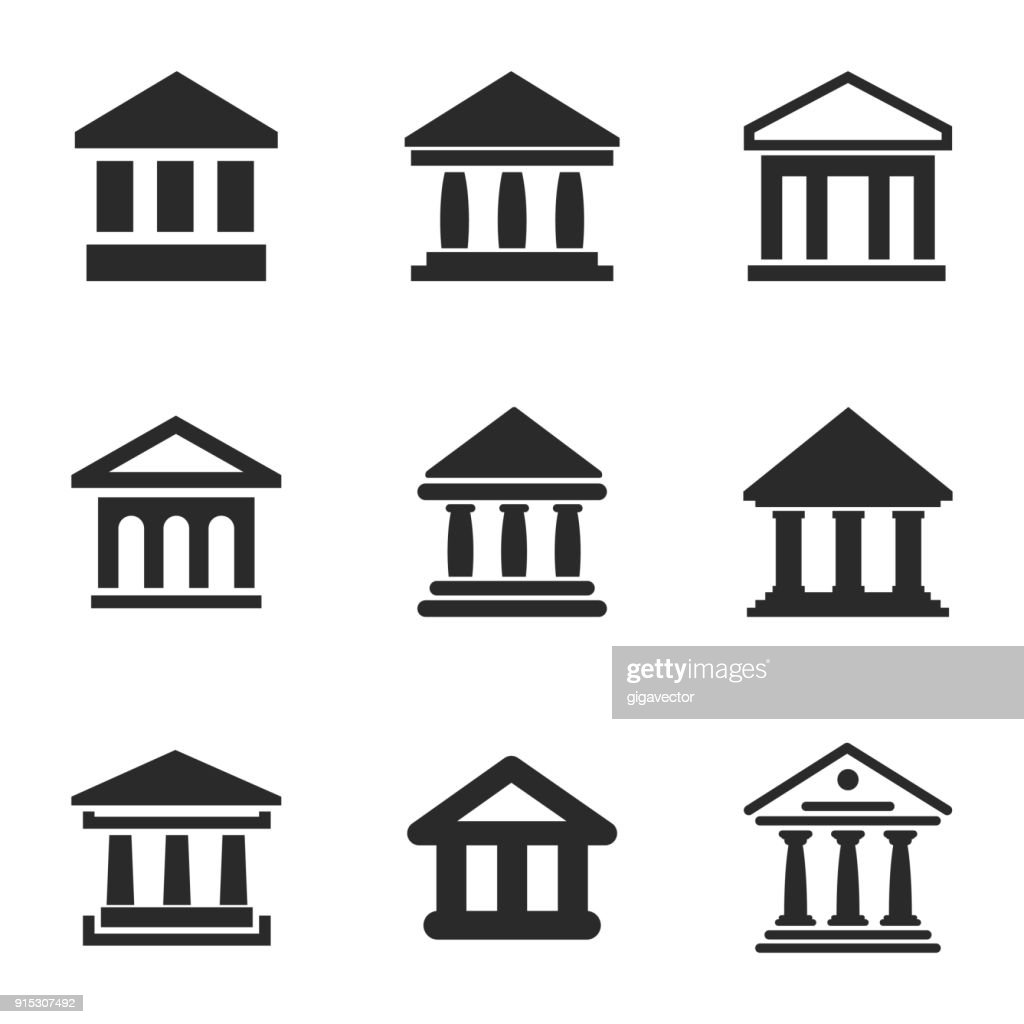 Bank vector icons.