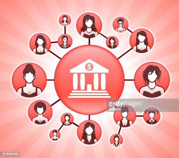 bank women's rights pink vector background - me too social movement stock illustrations, clip art, cartoons, & icons