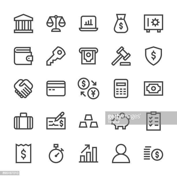 Banking and Accounting Icons - MediumX Line