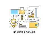 Banking and Finance Concept with icons