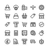 Banking and Finance Outline Vector Icons 4