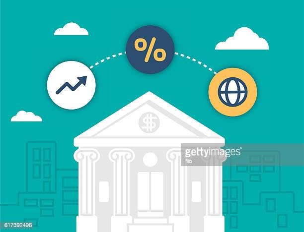 banking and financial institution - wall street stock illustrations