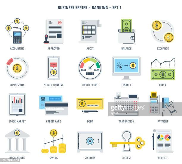 Banking and Financial Investment Icon Set