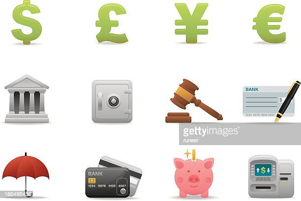 Banking & Finance icons 01 | Premium Matte series