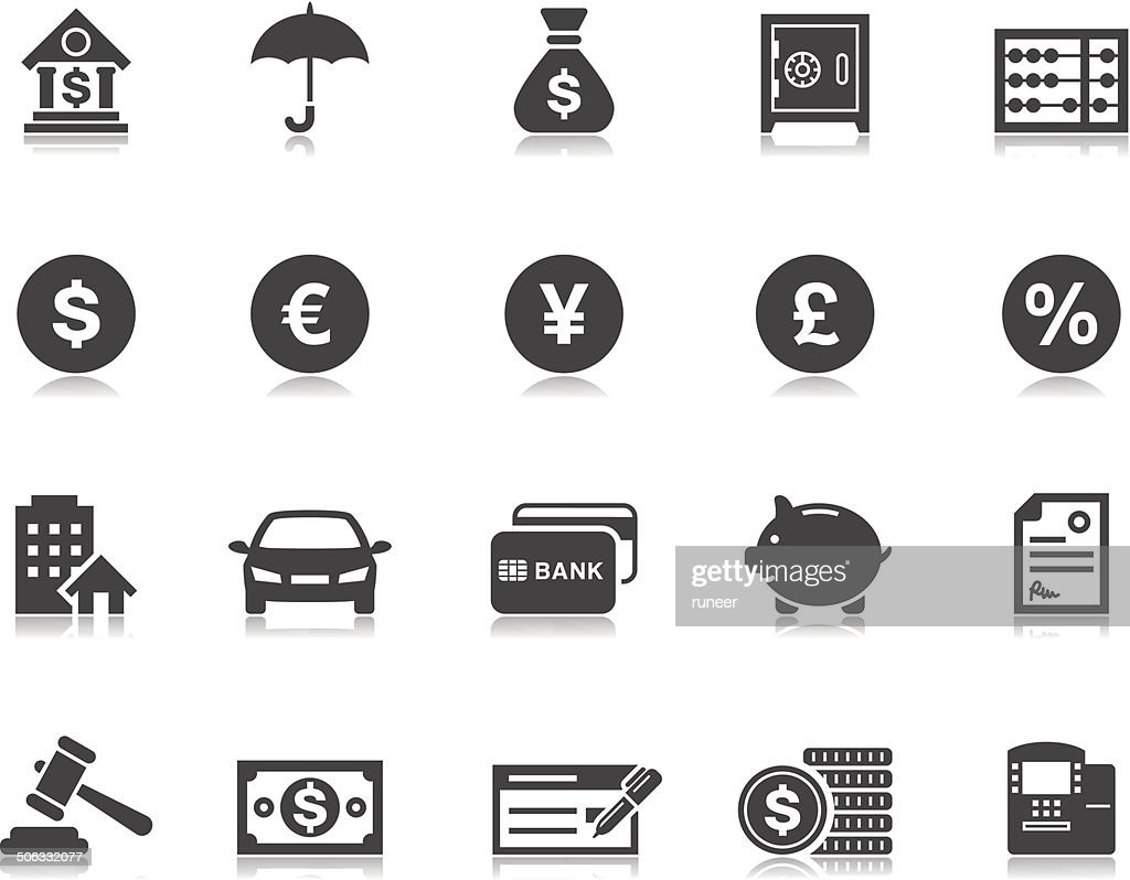 Banking & Finance icons | Pictoria series : Stock Illustration