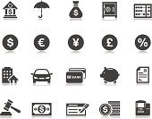 Banking & Finance icons | Pictoria series