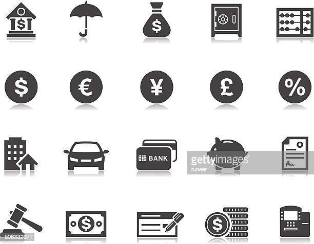 banking & finance icons | pictoria series - dollar sign stock illustrations, clip art, cartoons, & icons
