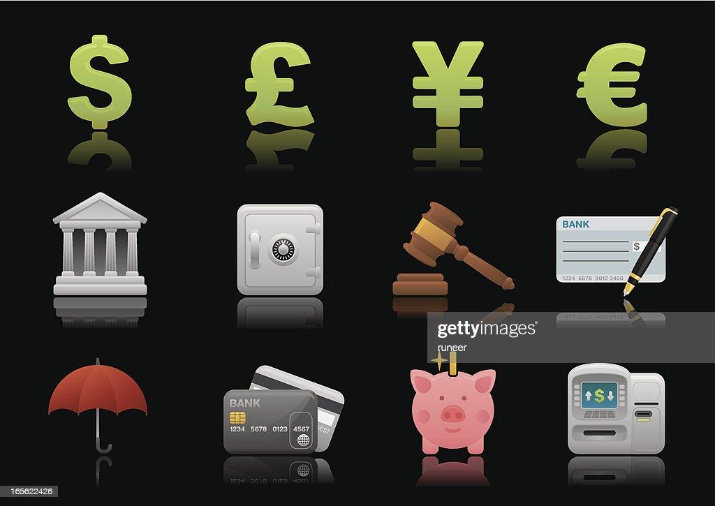 Banking & Finance icons | Premium Matte series : stock illustration