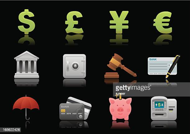 banking & finance icons | premium matte series - cash flow stock illustrations, clip art, cartoons, & icons