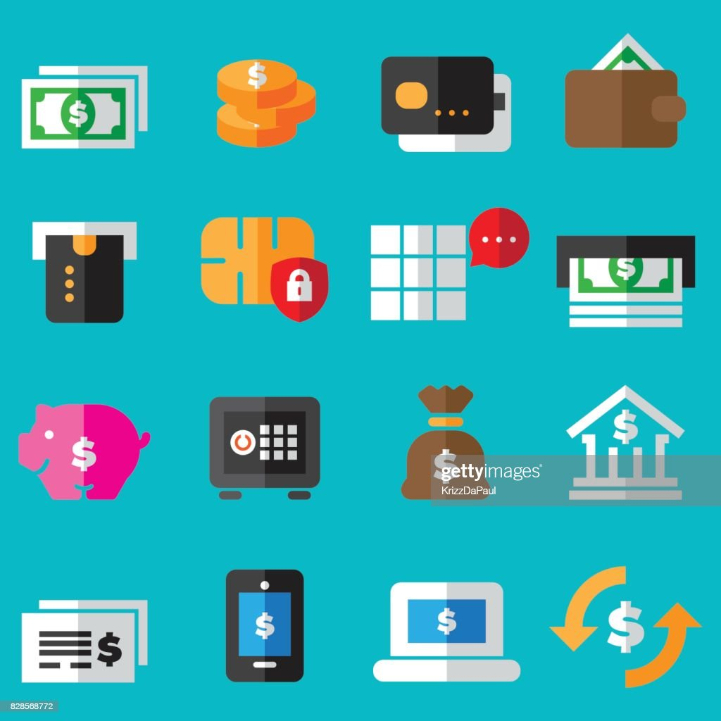 Banking Flat Icons