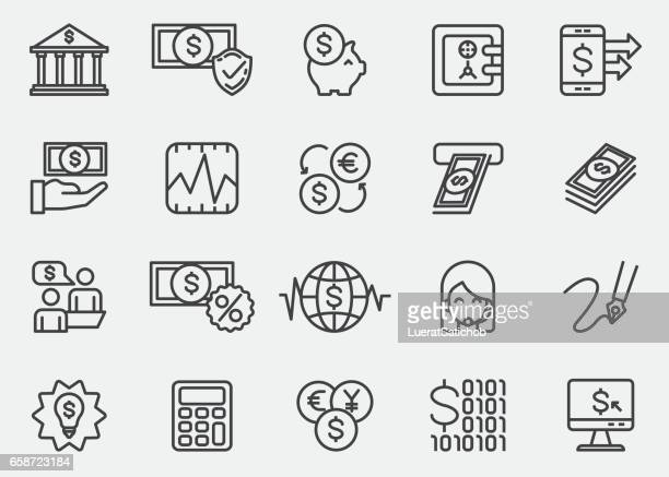Banking Line Icons |EPS10
