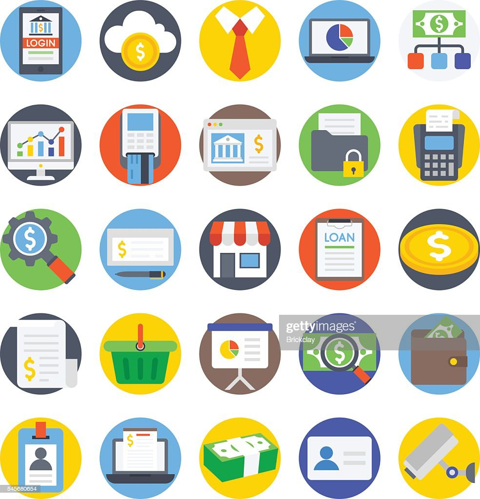Banking, Payment, Money, Credit card, ATM, Debit Vector Icons 3