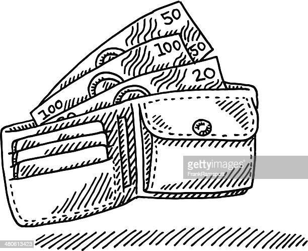 Banknotes Wallet Drawing