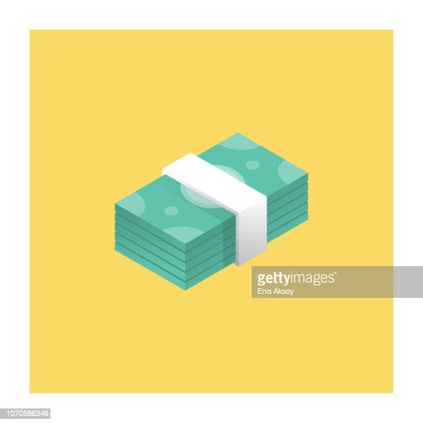 bankroll icon - paper currency stock illustrations, clip art, cartoons, & icons