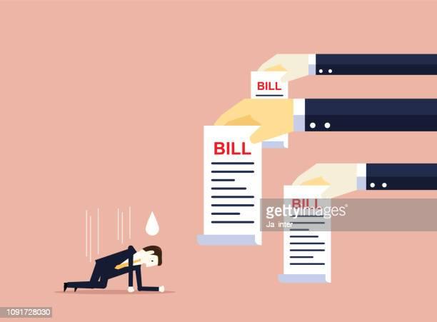 bankruptcy - refusing stock illustrations, clip art, cartoons, & icons