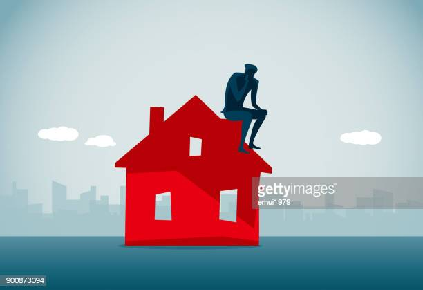 bankruptcy - housing development stock illustrations