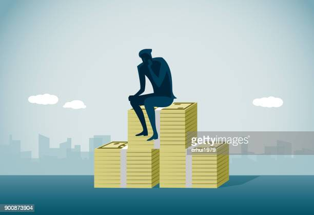 bankruptcy - subprime loan crisis stock illustrations