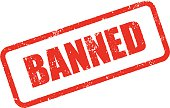 Banned Rubber Stamp Ink Imprint Icon (Transparent Background)