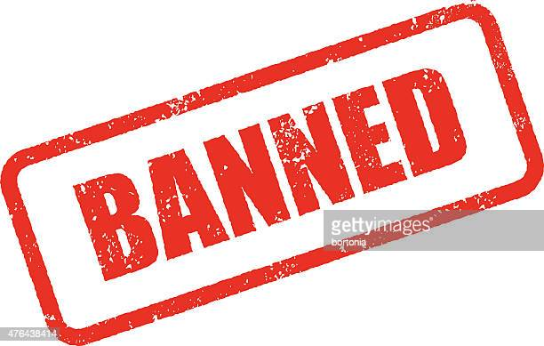 banned rubber stamp ink imprint icon (transparent background) - forbidden stock illustrations