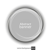 Banner abstract vector round transparent white