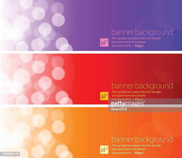 banner background set - purple background stock illustrations, clip art, cartoons, & icons