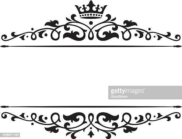 banner crown - royalty stock illustrations