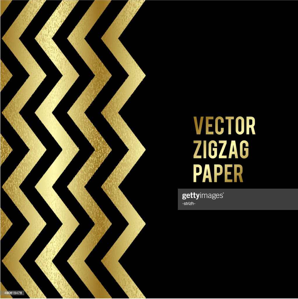 Banner design. Abstract template background with gold zigzag shapes