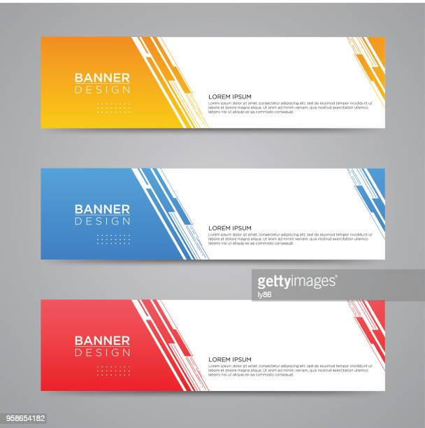 banner designs - vertical stock illustrations
