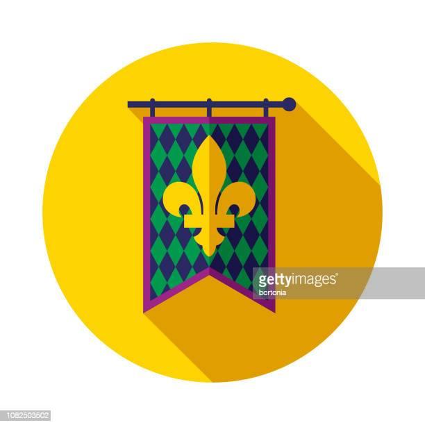 ilustrações de stock, clip art, desenhos animados e ícones de banner flat design mardi gras icon - carnaval