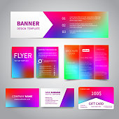 Banner, flyers, brochure, business cards